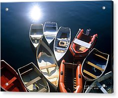 Dinghies And Rowboats - Maine Acrylic Print by David Perry Lawrence