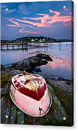 Dinghy Acrylic Print by Benjamin Williamson