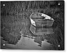Dinghy In The Marsh Acrylic Print