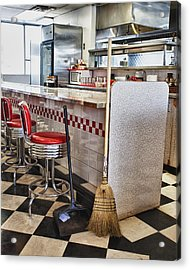 Dingy Diner Acrylic Print by Trever Miller