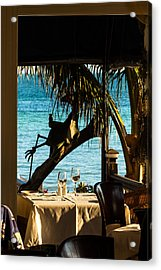 Dining For Two At Louie's Backyard Acrylic Print
