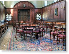 Acrylic Print featuring the photograph Dining Hall Wren Building by Jerry Gammon