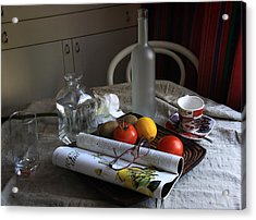 Dining Room Still Life With A Cup Of Coffee. Acrylic Print