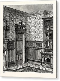 Dining Room Woodwork Acrylic Print by English School