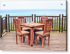 Dining Table Acrylic Print