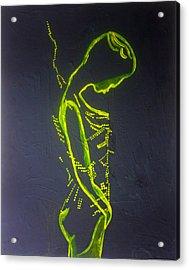 Dinka Painted Lady Acrylic Print