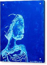 Dinka Painted Lady - South Sudan Acrylic Print by Gloria Ssali