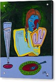 Dinner 40x30 Acrylic Print by Hans Magden