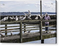 Dinner At The Marina Acrylic Print by Cathy Anderson