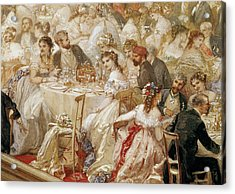 Dinner At The Tuileries, 1867 Wc On Paper Detail Of 182992 Acrylic Print by Henri Baron