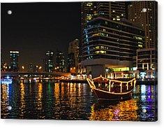 Dinner Cruise Dubai Acrylic Print