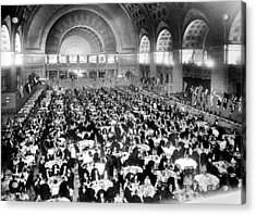 Dinner For Two Thousand At Union Station In Washington Acrylic Print by Underwood & Underwood