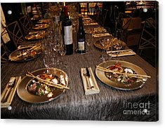 Dinner Is Served Acrylic Print by Nina Prommer