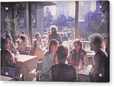 Dinner On The Balcony Acrylic Print by Philip White