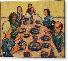 Acrylic Print featuring the painting Dinner Party by Clarence Major
