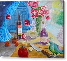 Dinner-time With Louigi Acrylic Print