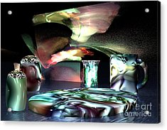 Acrylic Print featuring the digital art Dinnerware by Jacqueline Lloyd