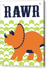Dino Rawr Acrylic Print by Tamara Robinson