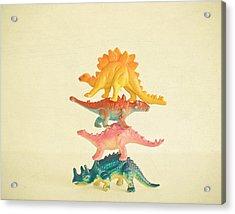 Dinosaur Antics Acrylic Print by Cassia Beck