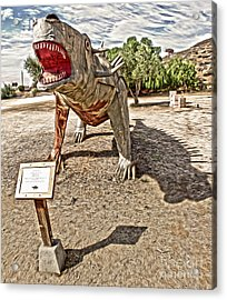 Dinosaur Atack Acrylic Print by Gregory Dyer