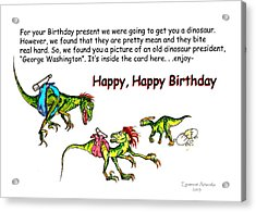 Dinosaur Kids Birthday Acrylic Print