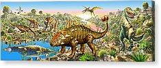 Dinosaur Panorama Acrylic Print by Adrian Chesterman