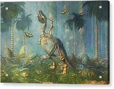 Dinosaur Warrior  Acrylic Print by Carol and Mike Werner