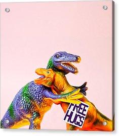 Dinosaurs Hugging Acrylic Print