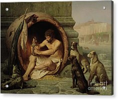 Diogenes Acrylic Print by Jean Leon Gerome