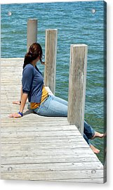 Acrylic Print featuring the photograph Dipping Toes by Tamyra Crossley