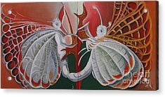 Diptych-double Canvas Acrylic Print by Art Ina Pavelescu