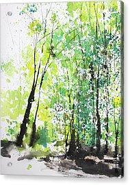 Diptych No.29 Left 16x20 Acrylic Print by Sumiyo Toribe
