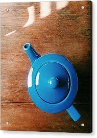 Directly Above Shot Of Teapot On Table Acrylic Print by Timothy Kirman / Eyeem
