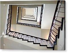 Directly Below Shot Of Spiral Staircase Acrylic Print by Joerg Fockenberg / Eyeem