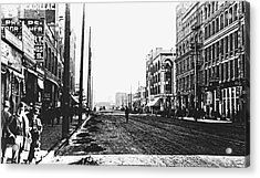 Downtown Dirt Spokane C. 1895 Acrylic Print by Daniel Hagerman
