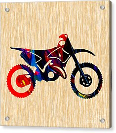 Dirt Bike  Acrylic Print by Marvin Blaine