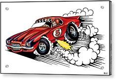 Dirt Track Racing Acrylic Print