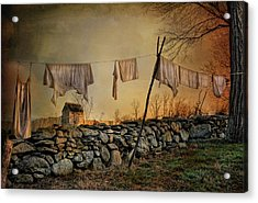 Linen On The Line Acrylic Print