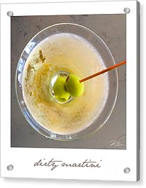 Dirty Martini Poster Acrylic Print