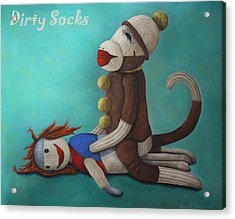 Dirty Socks 4 With Lettering Acrylic Print