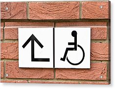 Disabled Sign Acrylic Print by Tom Gowanlock