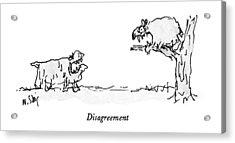 Disagreement Acrylic Print