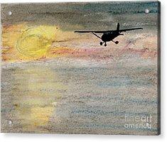 Disappearing Horizon Acrylic Print by R Kyllo