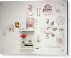 Disassembled Food Processor Acrylic Print by Dorling Kindersley/uig