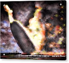 Disaster Strikes Acrylic Print by Peter Chilelli