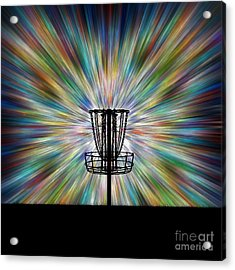 Disc Golf Basket Silhouette Acrylic Print