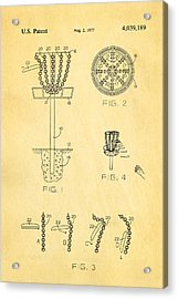 Disc Golf - Frisbee Golf Patent Art 1977 Acrylic Print by Ian Monk