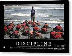 Discipline Inspirational Quote Acrylic Print by Stocktrek Images