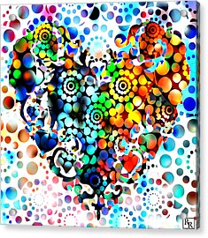 Disco Heart Acrylic Print