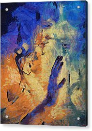Acrylic Print featuring the painting Discovering Yourself by Joe Misrasi